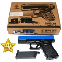 Galaxy G15 Spring Powered Blue Metal BB Gun Pistol (Glock Replica)