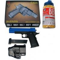 Galaxy Powered G6H Metal + Plastic Spring Powered BB Gun + Holster + 2000 Pellets