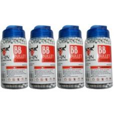 4 Tubs of 2000 White 0.15g Plastic 6mm BB Gun Pellets (8000 Pellets)