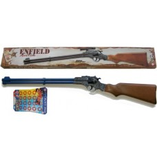 Edison Giocattoli 8 Shot Enfield Western Style Plastic + Metal Cap Gun Rifle + 160 Caps
