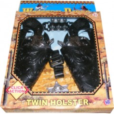 Twin Western Style Click-Action Cowboy Play Gun Set