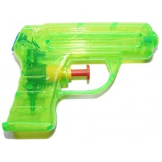 11cm Mini Plastic Water Pistol Gun - Choice of 6 Colours